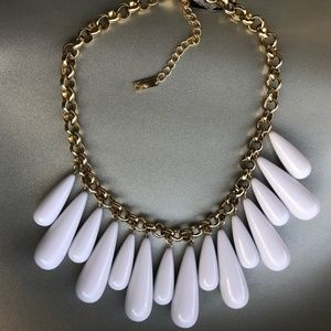 INC International Concepts Statement Necklace Whit